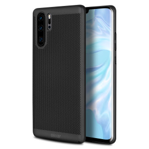 A supremely precision engineered lightweight slimline case in tactical black with a perforated mesh pattern that looks great, adds grip and aids heat dissipation from your Huawei P30 Pro, as well as enhance the high performance beauty of the device.