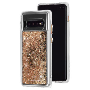 Ultra slim protection for your Samsung Galaxy S10 Plus with the Case-Mate Waterfall case in gold. Featuring dual layer design and an ostentatious look, this case is built to U.S. Military standards to withstand accidental damage.