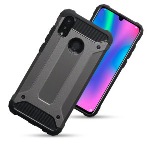 Protect your Huawei P Smart 2019 from bumps and scrapes with this gunmetal Delta Armour case from Olixar. Comprised of an inner TPU section and an outer impact-resistant exoskeleton.