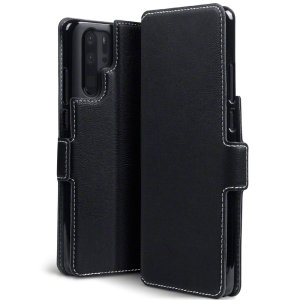All the benefits of a wallet case but far more streamlined. The Olixar Low Profile in black is the perfect partner for the the Huawei P30 Pro owner on the move. What's more, this case transforms into a handy stand to view media.