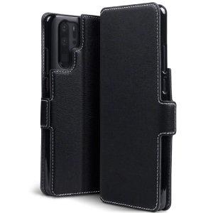 Alle Vorteile einer Brieftasche, aber viel schlanker. Der Olixar Low Profile in Schwarz ist der perfekte Partner für den Huawei P30 Pro Besitzer unterwegs. Darüber hinaus verwandelt sich dieses Gehäuse in einen praktischen Ständer zur Betrachtung von Medien.