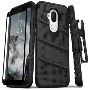 Equip your Alcatel 7 with military grade protection and superb functionality with the ultra-rugged Bolt case in black from Zizo. Coming complete with a handy belt clip and integrated kickstand.