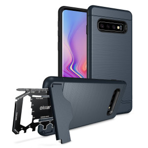 Prepare your Samsung Galaxy S10 for the great outdoors with the rugged X-Ranger case in blue. With a handy kickstand and a secure compartment for the included multi-tool - or the card of your choice - you'll be ready for anything.