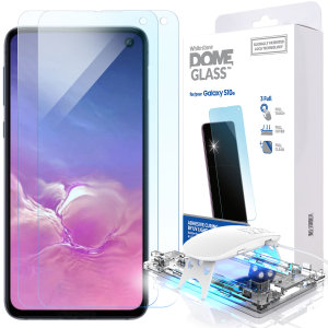 The Whitestone Dome Glass screen protector for Galaxy S10e uses a UV lamp with a proprietary UV adhesive installation to ensure a total and perfect fit for your device. Featuring 9H hardness for absolute protection, as well as 100% touch sensitivity.