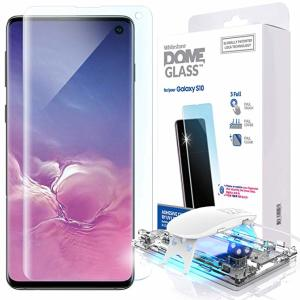 The Whitestone Dome Glass screen protector for Galaxy S10 uses a UV lamp with a proprietary UV adhesive installation to ensure a total and perfect fit for your device. Featuring 9H hardness for absolute protection, as well as 100% touch sensitivity.