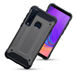 Protect your Samsung Galaxy A9 2018 from bumps and scrapes with this gunmetal Delta Armour case from Olixar. Comprised of an inner TPU section and an outer impact-resistant exoskeleton.