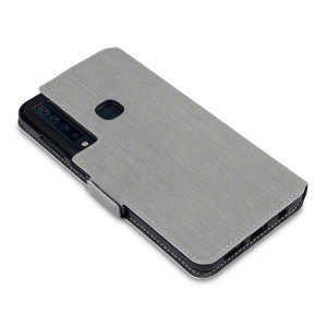 All the benefits of a wallet case but far more streamlined. The Olixar Low Profile in grey is the perfect partner for the the Samsung Galaxy A9 2018 owner on the move. What's more, this case transforms into a handy stand to view media.