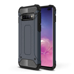 Protect your Samsung Galaxy S10 Plus from bumps and scrapes with this blue Delta Armour case from Olixar. Comprised of an inner TPU section and an outer impact-resistant exoskeleton.
