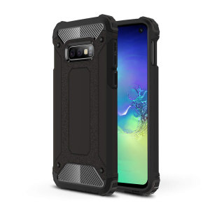 Protect your Samsung Galaxy S10e from bumps and scrapes with this black Delta Armour case from Olixar. Comprised of an inner TPU section and an outer impact-resistant exoskeleton.