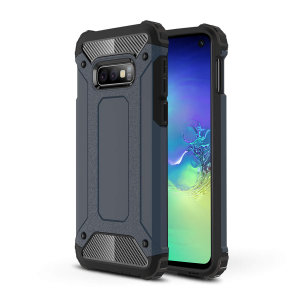 Protect your Samsung Galaxy S10e from bumps and scrapes with this blue Delta Armour case from Olixar. Comprised of an inner TPU section and an outer impact-resistant exoskeleton.