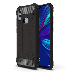 Protect your Huawei P Smart 2019 from bumps and scrapes with this black Delta Armour case from Olixar. Comprised of an inner TPU section and an outer impact-resistant exoskeleton.