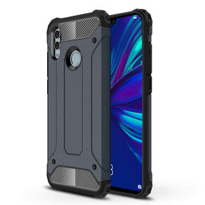 Protect your Huawei P Smart 2019 from bumps and scrapes with this slate blue Delta Armour case from Olixar. Comprised of an inner TPU section and an outer impact-resistant exoskeleton.