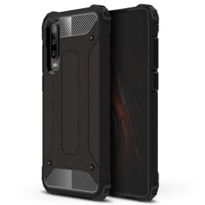 Protección para el Huawei P30 ante golpes y arañazos gracias a esta increíble funda Olixar Dual Layer Armour.