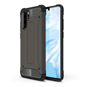 Protect your Huawei P30 Pro from bumps and scrapes with this gunmetal Delta Armour case from Olixar. Comprised of an inner TPU section and an outer impact-resistant exoskeleton.