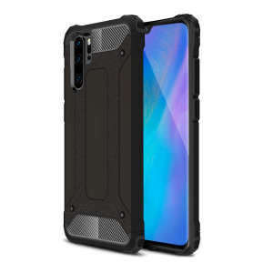 Protect your Huawei P30 Pro from bumps and scrapes with this black Delta Armour case from Olixar. Comprised of an inner TPU section and an outer impact-resistant exoskeleton to provide all-round tough protection.