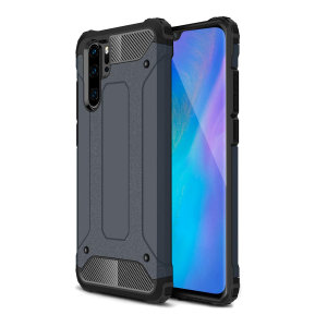 Protect your Huawei P30 Pro from bumps and scrapes with this slate blue Delta Armour case from Olixar. Comprised of an inner TPU section and an outer impact-resistant exoskeleton.