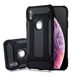 Protect your iPhone XS / X from bumps and scrapes with this black Delta Armour case from Olixar. Comprised of an inner TPU section and an outer impact-resistant exoskeleton.