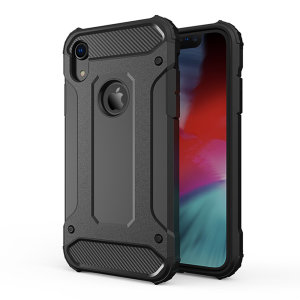 Protect your iPhone XR from bumps and scrapes with this black Delta Armour case from Olixar. Comprised of an inner TPU section and an outer impact-resistant exoskeleton.