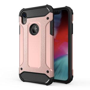 Protección para el iPhone XR ante golpes y arañazos gracias a esta increíble funda Olixar Dual Layer Armour.