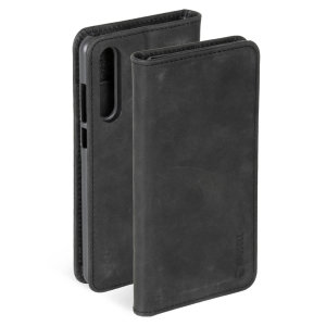 Krusell's 2 Card Sunne Wallet cover in black combines Nordic chic with Krusell's values of sustainable manufacturing for the socially-aware Huawei P30 owner who wants an elegant genuine leather accessory with extra storage for cash and cards.