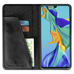 Krusell's 2 Card Sunne Wallet cover in vintage black combines Nordic chic with Krusell's values of sustainable manufacturing for the socially-aware Huawei P30 Pro owner who wants an elegant genuine leather accessory with extra storage for cash and cards.
