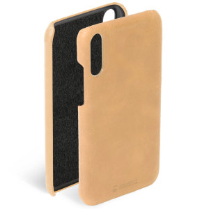 Krusell's Sunne cover in vintage nude combines Nordic chic with Krusell's values of sustainable manufacturing for the socially-aware Huawei P30 owner who wants an elegant genuine leather accessory.