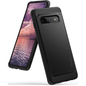 Provide your shiny new Samsung Galaxy S10 with a sleek, yet heavy-duty protection and premium brushed metal look offering Ringke Onyx case. The precision-cut design and anti-slip finish will preserve the aesthetic and offer great comfort.