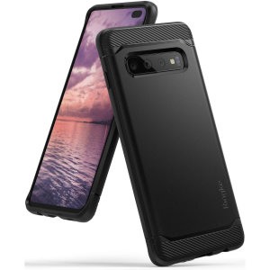 Provide your shiny new Samsung Galaxy S10 Plus with a sleek, yet heavy-duty protection and premium brushed metal look offering Rearth Ringke Onyx case. The precision-cut design and anti-slip finish will preserve the aesthetic and offer great comfort.