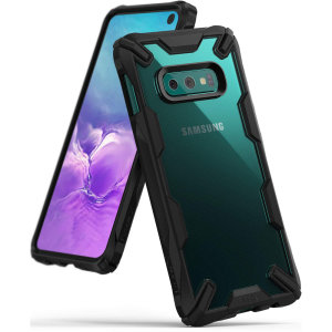 Keep your Samsung Galaxy S10e protected from bumps and drops with the Rearth Ringke Fusion X tough case in Black. Featuring a 2-part,  design, this case lives up to military drop-test standards so you can rest assured that your device is safe.