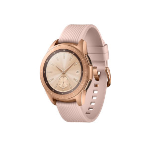 Experience the hands-free freedom with Samsung Galaxy Watch in Rose Gold. Track up to 40 different exercises and get more active outdoors as the Galaxy Watch is water resistant. Order an Uber and pay for your morning coffee with GPS and NFC feature.