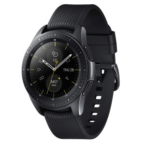 Experience the hands-free freedom with Samsung Galaxy Watch in Black. Track up to 40 different exercises and get more active outdoors as the Galaxy Watch is water resistant. Order an Uber and pay for your morning coffee with GPS and NFC feature.