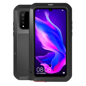 Protect your Huawei P30 Lite with one of the toughest and most protective cases on the market, ideal for helping to prevent possible damage from water and dust, this is the black Love Mei Powerful Protective Case.
