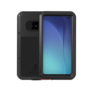 Protect your Samsung Galaxy S10e with one of the toughest and most protective cases on the market, ideal for helping to prevent possible damage from water and dust - this is the black Love Mei Powerful Protective Case.