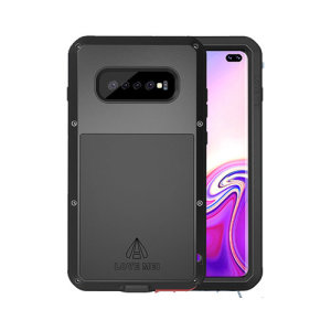 Protect your Samsung Galaxy S10 Plus with one of the toughest and most protective cases on the market, ideal for helping to prevent possible damage from water and dust - this is the black Love Mei Powerful Protective Case.