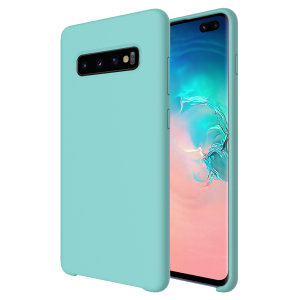 Olixar Samsung Galaxy S10 Plus Soft Silicone Case - Pastel Green