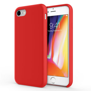 Custom moulded for the iPhone 8 / 7, this red soft silicone case from Olixar provides excellent protection against damage as well as a slimline fit for added convenience.