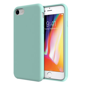 Olixar iPhone 8 / 7 Soft Silicone Case - Pastel Green