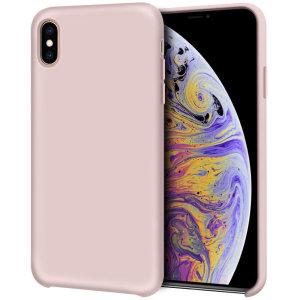 Modellata su misura per l'iPhone X, questa custodia in morbido silicone rosa pastello di Olixar offre un'eccellente protezione contro i danni e una vestibilità slimline per una maggiore praticità.
