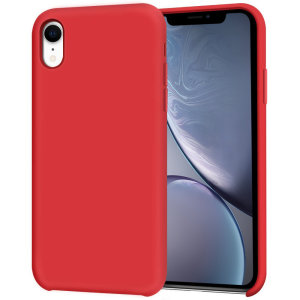 Custom moulded for the iPhone XR, this red soft silicone case from Olixar provides excellent protection against damage as well as a slimline fit for added convenience.