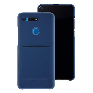 This official Huawei protective case in blue for the Honor View 20 offers excellent protection while maintaining your device's sleek, elegant lines. Featuring a built-in card slot and reinforced corners provide extra shock absorption.