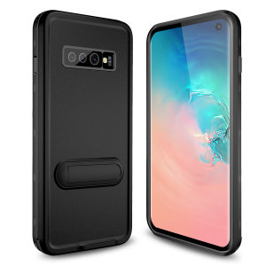 All round rugged protection for your Samsung Galaxy S10 with the Terra 360 protective case from Olixar. Featuring a dual layer shock resistant design and a built in screen protector, to prevent damage from water, dust, dirt and snow.