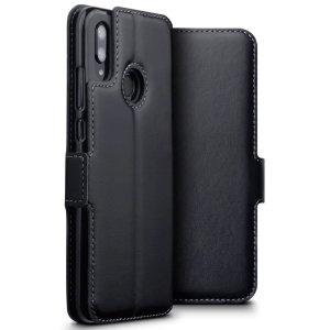 Bénéficiez de tous les avantages d'un portefeuille dans une housse protectrice idéale et parfaitement ajustée pour votre Huawei P Smart 2019. Par ailleurs, cette housse Olixar en coloris noir peut se transformer facilement en support de visionnage, pratique lorsque vous souhaitez regarder une vidéo.