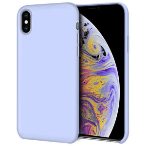 Custom moulded for the iPhone XS, this lilac soft silicone case from Olixar provides excellent protection against damage as well as a slimline fit for added convenience.