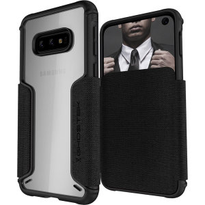 The Exec3 premium wallet case in black provides your Samsung Galaxy S10e with fantastic protection. Also featuring storage slots for your credit cards, ID and cash.