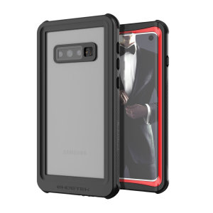 Shield your precious Samsung Galaxy S10 on both land and at sea with the extremely tough, yet incredibly stylish Nautical Series Waterproof case from Ghostek in red. Protecting your S10 from depths of up to 1 meter for up to 30 minutes.