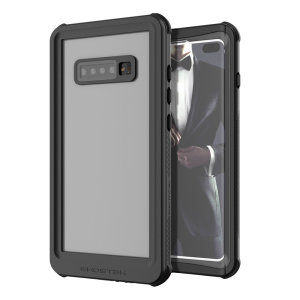 Shield your precious Samsung Galaxy S10 Plus on both land and at sea with the extremely tough, yet incredibly stylish Nautical Series Waterproof case from Ghostek in black. Protecting your S10 Plus from depths of up to 1 meter for up to 30 minutes.