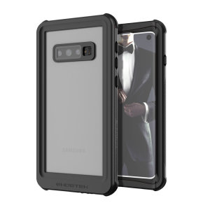 Shield your precious Samsung Galaxy S10e on both land and at sea with the extremely tough, yet incredibly stylish Nautical Series Waterproof case from Ghostek in black. Protecting your S10e from depths of up to 1 meter for up to 30 minutes.