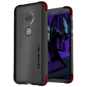 Custom molded for the Motorola Moto G7, Ghostek tough case provides a slim fitting, stylish design and reinforced corner protection against shock damage, keeping your device looking great at all times