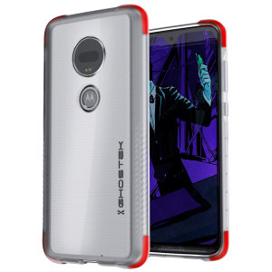 Custom molded for the Motorola Moto G7, this crystal clear Ghostek tough case provides a slim fitting, stylish design and reinforced corner protection against shock damage, keeping your device looking great at all times.