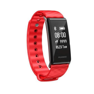 The Huawei Colour Band in Red, monitors your heart rate, captures steps, burned calories, elevation climbed and distance traveled. Syncing to your smartphone or tablet, you will discover your data put into perspective.